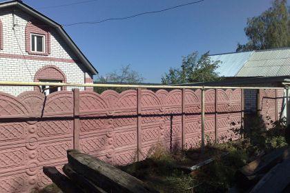 Установка бетонного забора, село Варварское Кстовский район