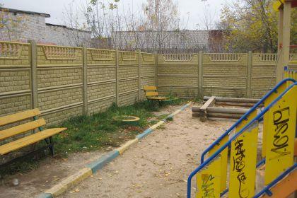 Установка бетонного забора в Нижнем Новгороде для детской площадке