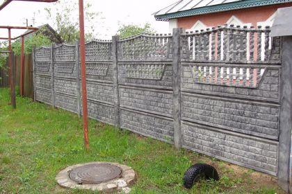 Установка бетонного забора в Нижнем Новгороде, Сормовский район