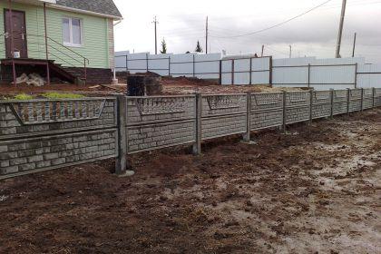 Установка бетонного забора, село Афанасьево Богородский район