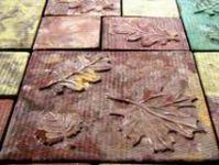 Тротуарная плитка фигурная (брусчатка) Осень